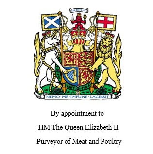 By appointment to HM Queen Elizabeth II - Purveyor of Meat and Poultry